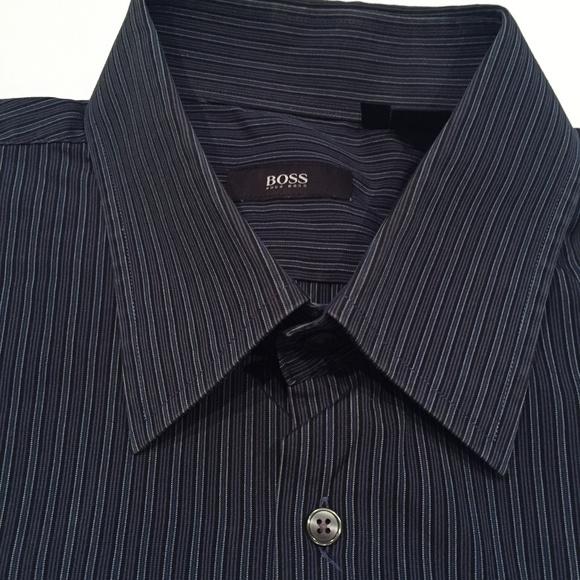Hugo Boss Men's Pinstripe Dress Shirt